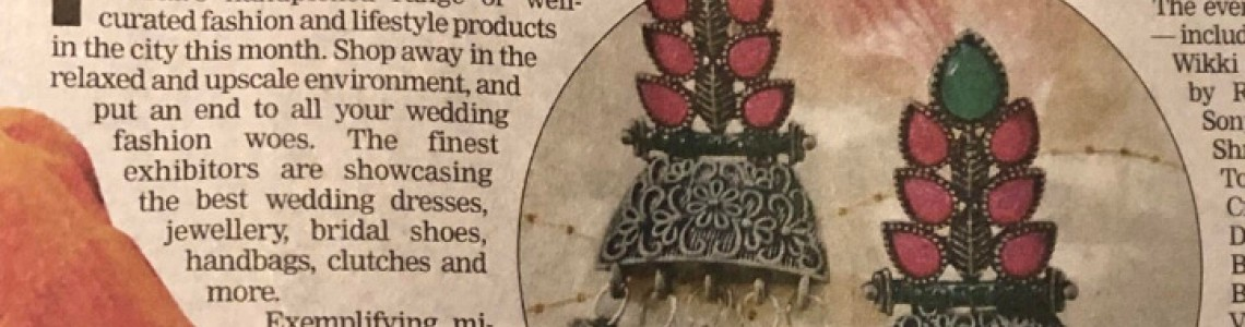 Half -Jhumka is trending everywhere; As seen on today's  leading newspaper
